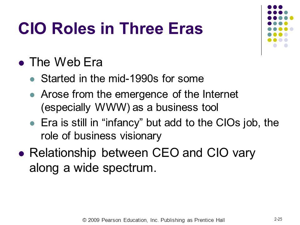 CIO Roles in Three Eras The Web Era