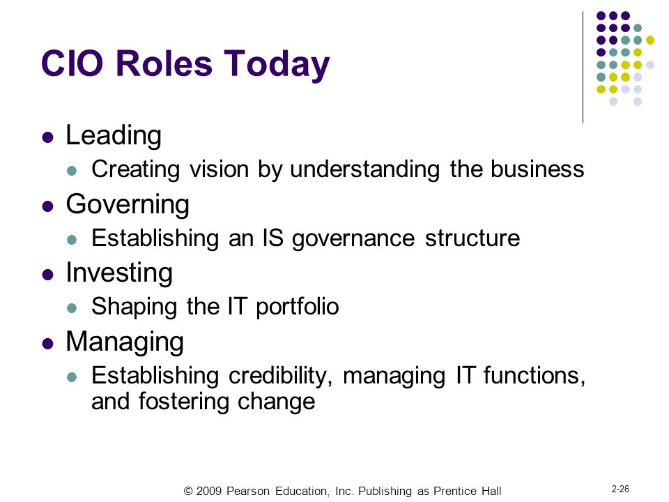 CIO Roles Today Leading Governing Investing Managing