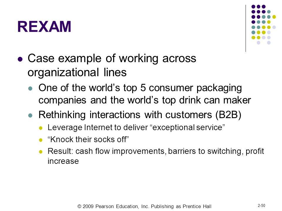 REXAM Case example of working across organizational lines