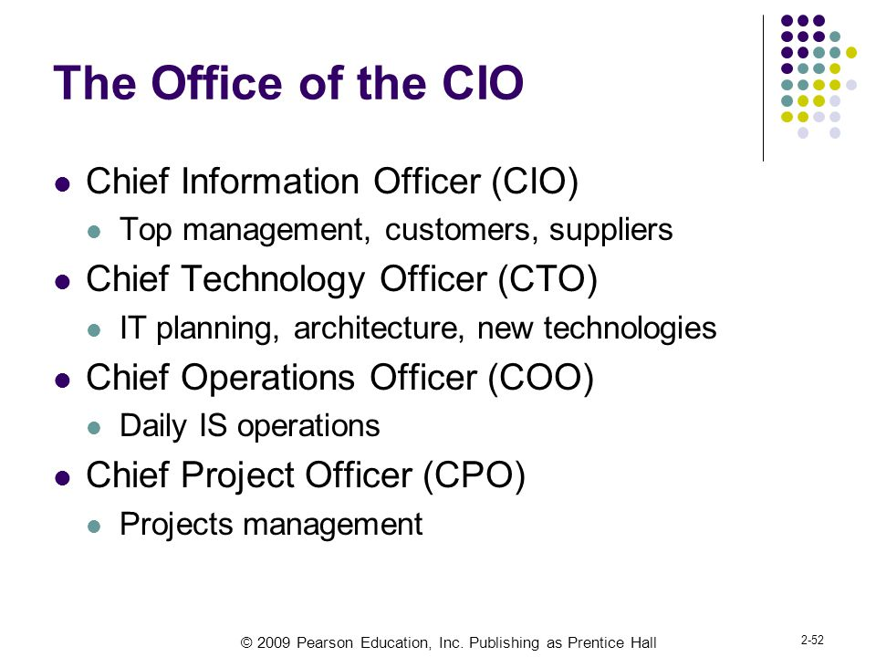 The Office of the CIO Chief Information Officer (CIO)