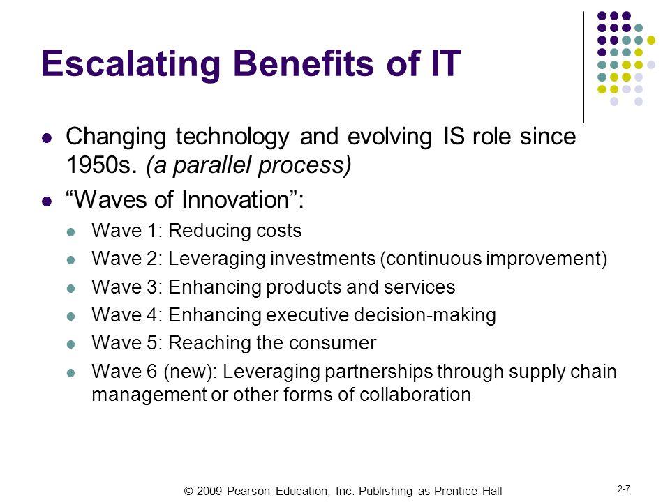 Escalating Benefits of IT