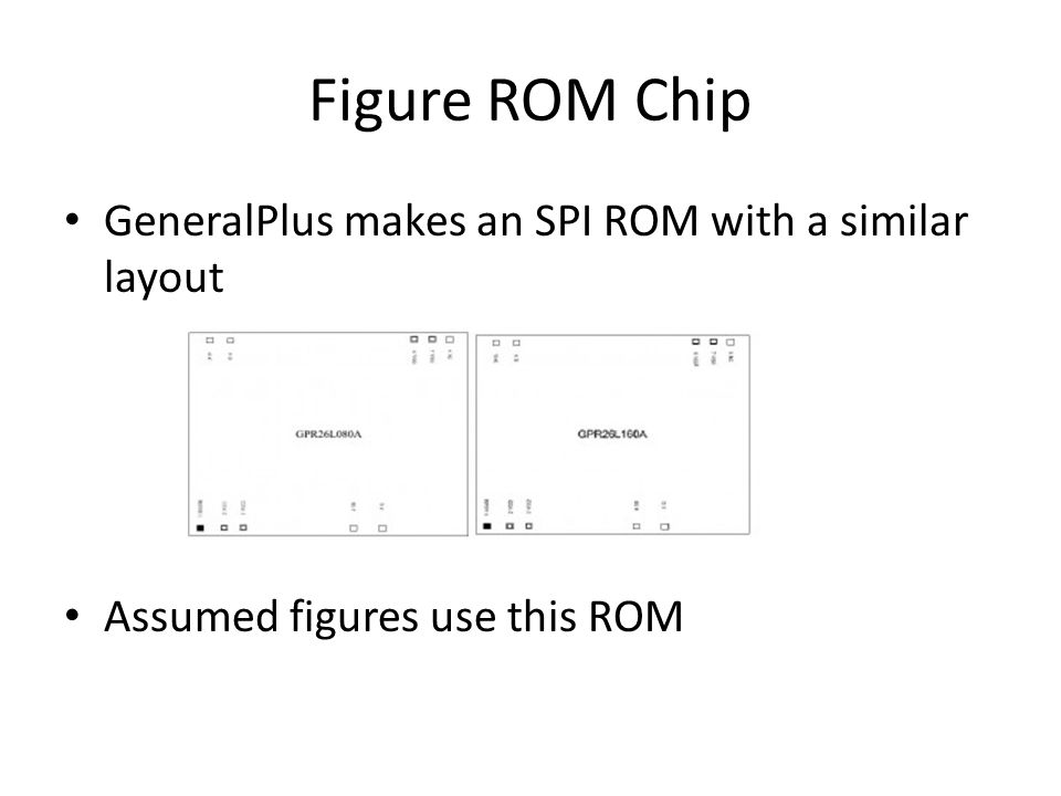 Figure ROM Chip GeneralPlus makes an SPI ROM with a similar layout