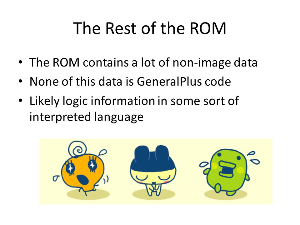 The Rest of the ROM The ROM contains a lot of non-image data