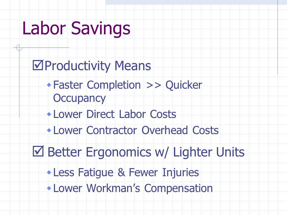 Labor Savings Productivity Means