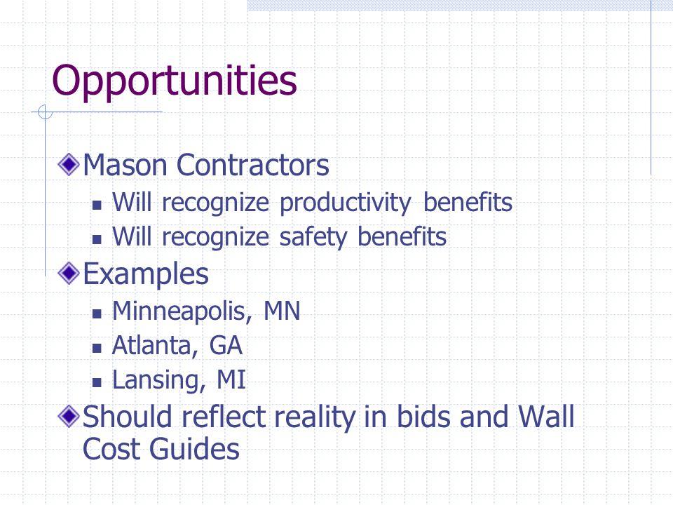 Opportunities Mason Contractors Examples