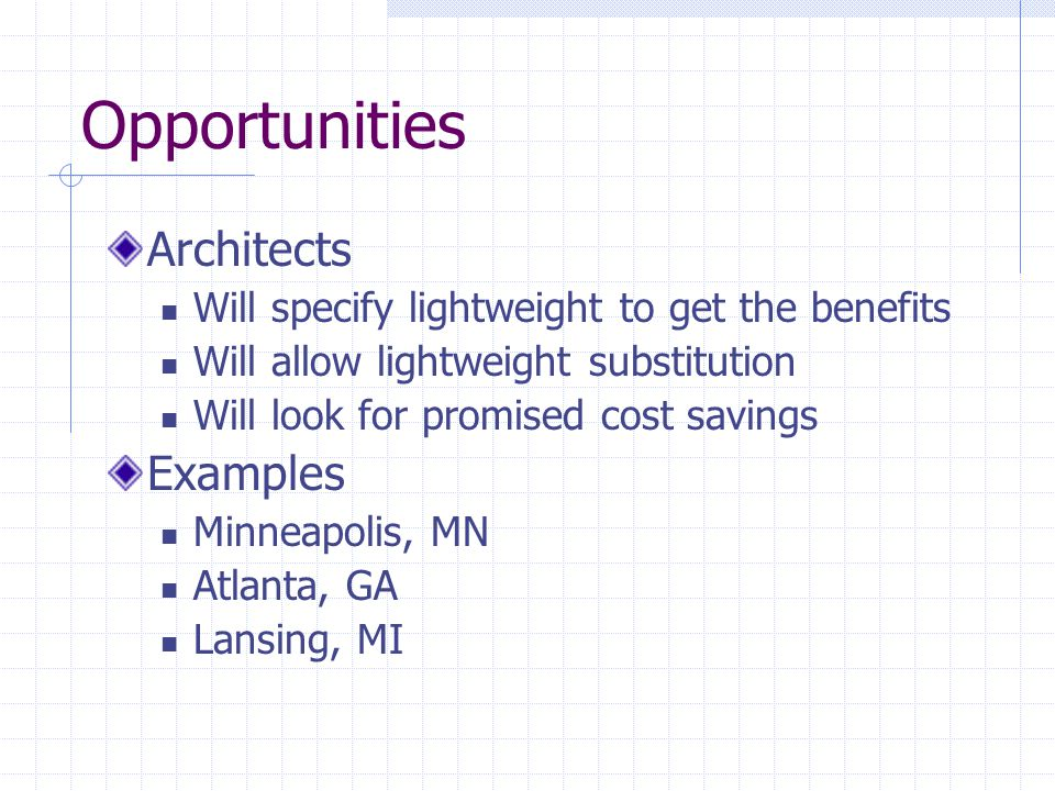 Opportunities Architects Examples