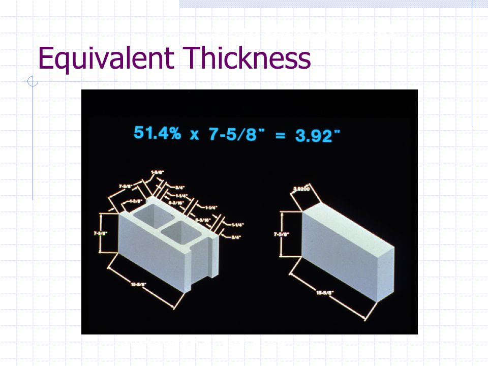 Equivalent Thickness Calculation Method