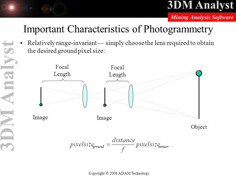 Important Characteristics of Photogrammetry