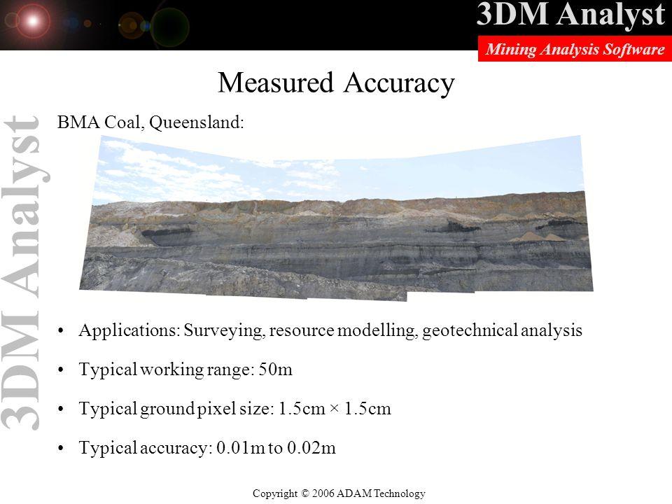 Measured Accuracy BMA Coal, Queensland: