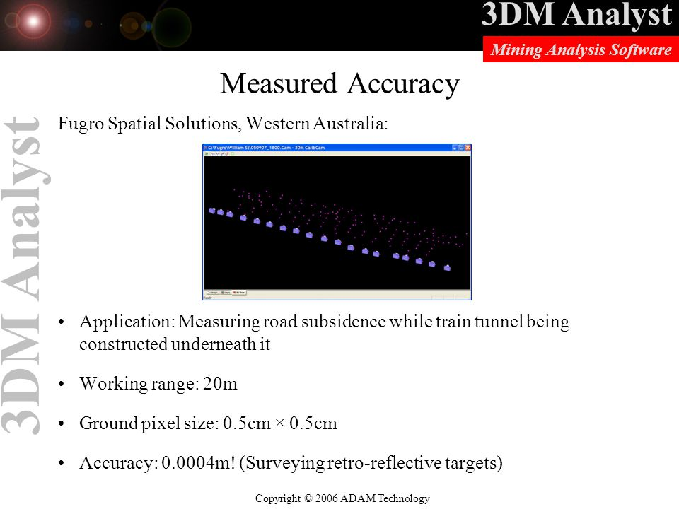Measured Accuracy Fugro Spatial Solutions, Western Australia: