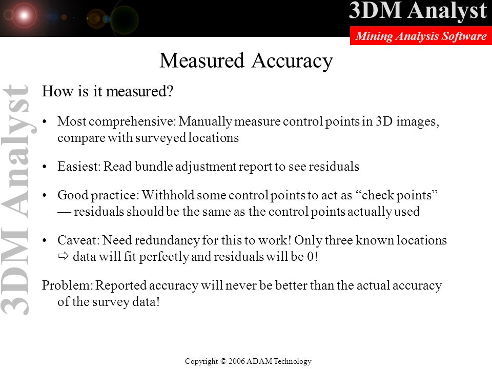 Measured Accuracy How is it measured