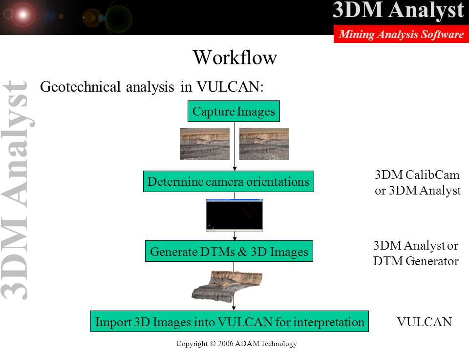 Workflow Geotechnical analysis in VULCAN: Capture Images