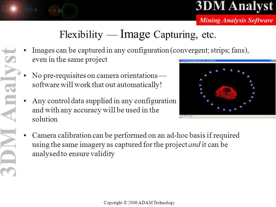 Flexibility — Image Capturing, etc.