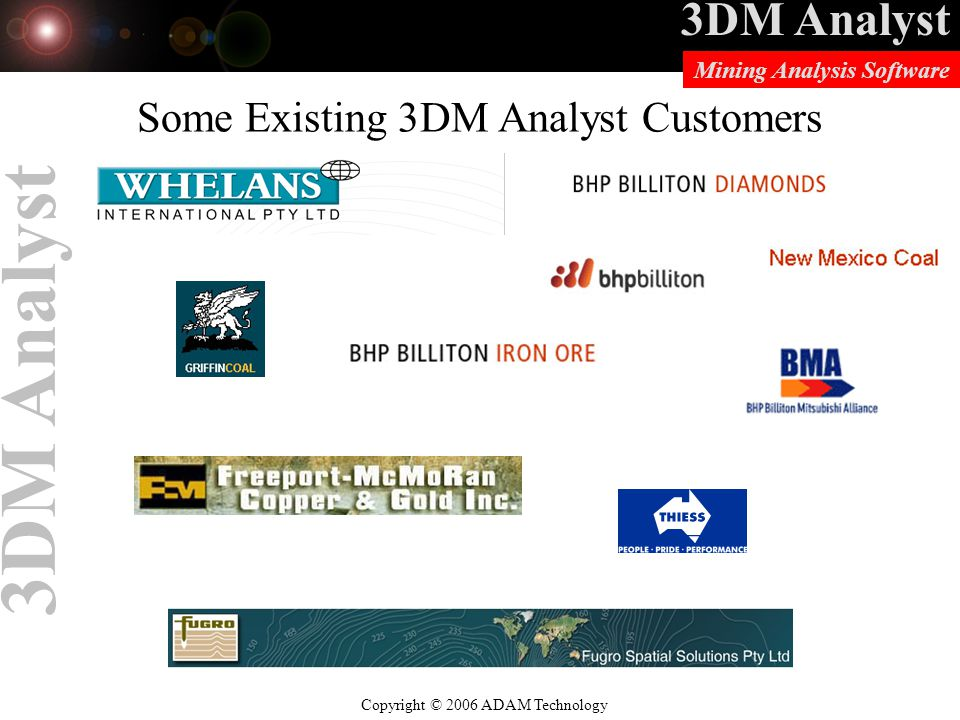 Some Existing 3DM Analyst Customers