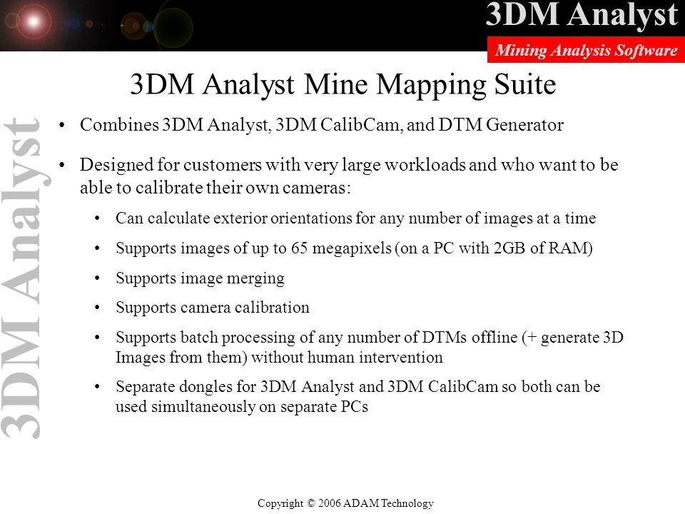 3DM Analyst Mine Mapping Suite