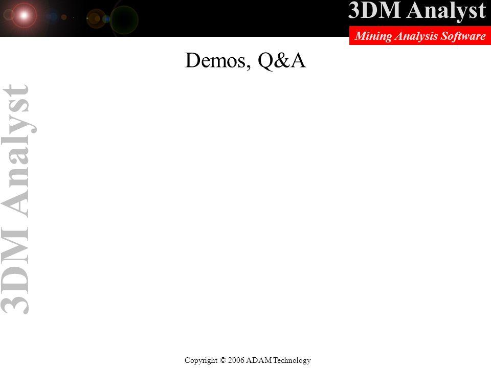 Demos, Q&A