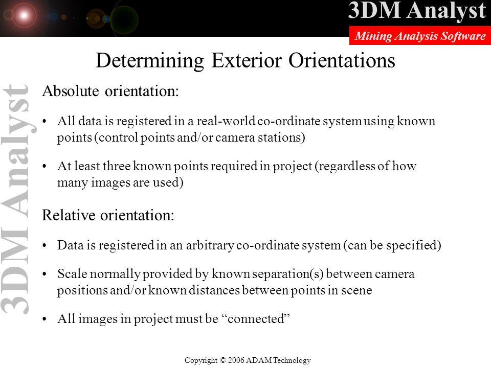 Determining Exterior Orientations