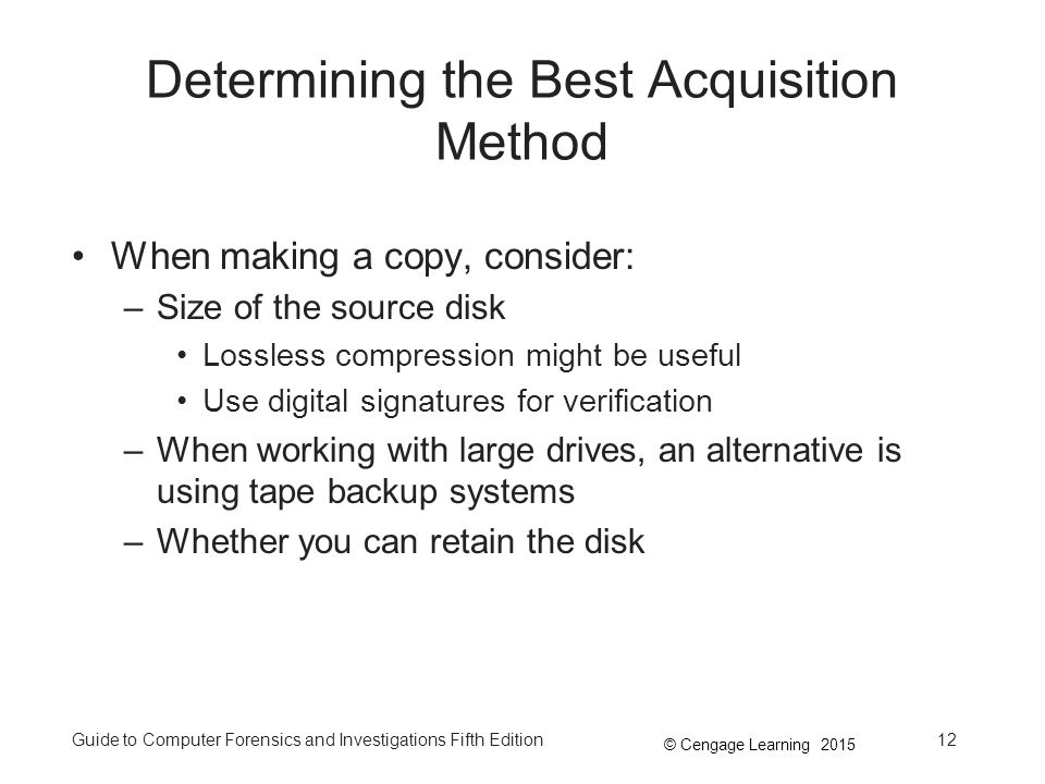 Determining the Best Acquisition Method