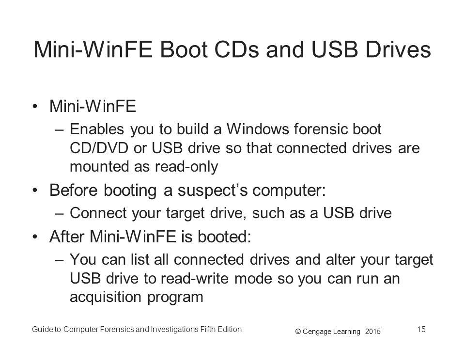 Mini-WinFE Boot CDs and USB Drives