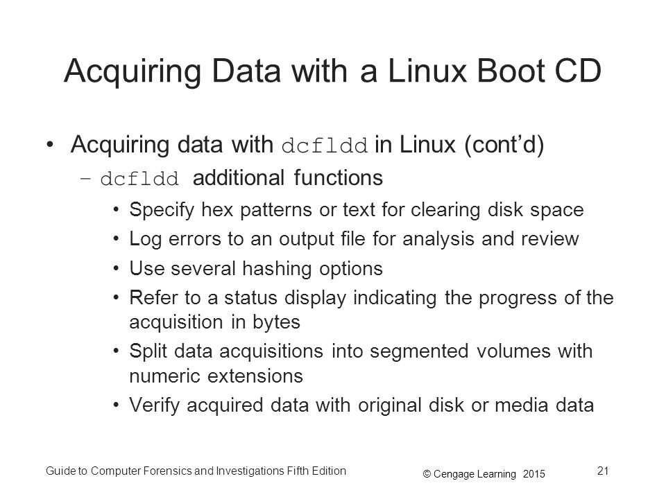 Acquiring Data with a Linux Boot CD