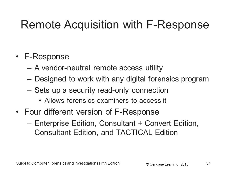 Remote Acquisition with F-Response