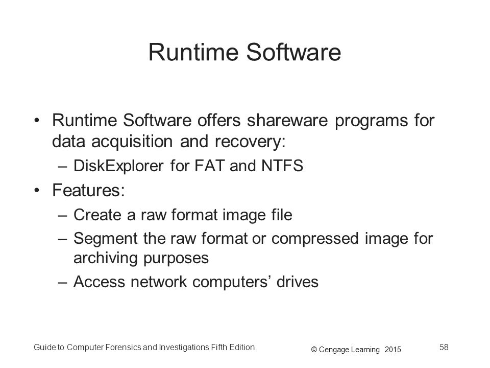 Runtime Software Runtime Software offers shareware programs for data acquisition and recovery: DiskExplorer for FAT and NTFS.