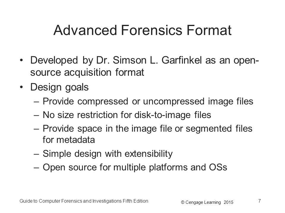 Advanced Forensics Format