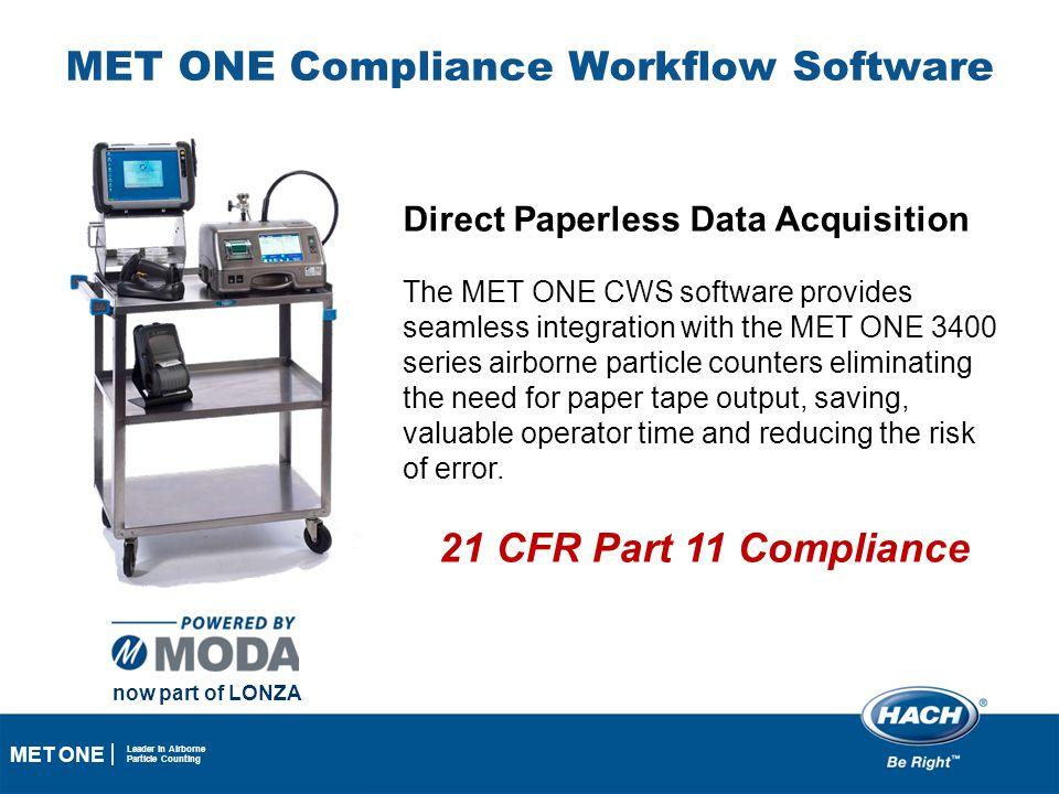 MET ONE Compliance Workflow Software