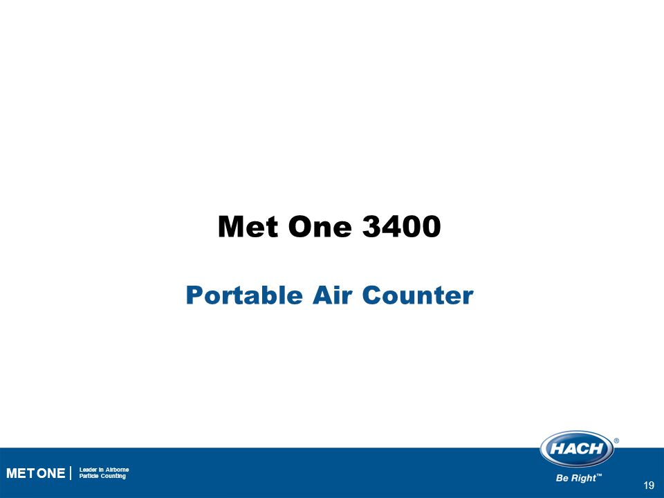 Met One 3400 Portable Air Counter