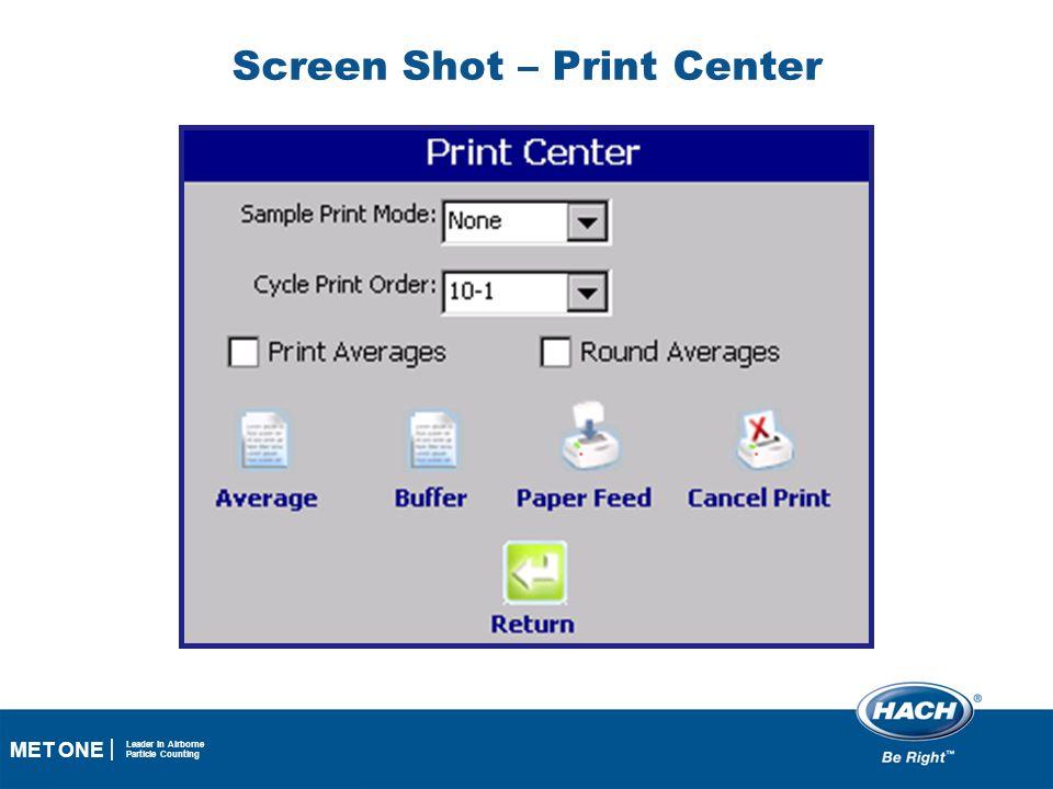Screen Shot – Print Center