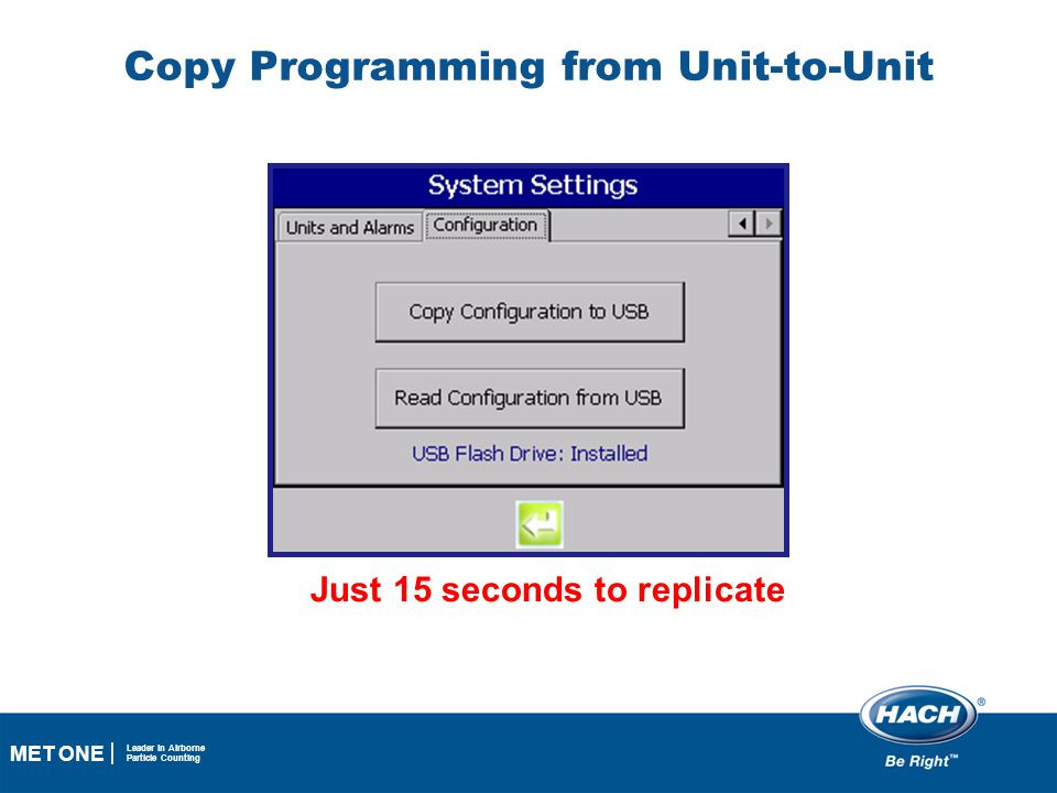 Copy Programming from Unit-to-Unit