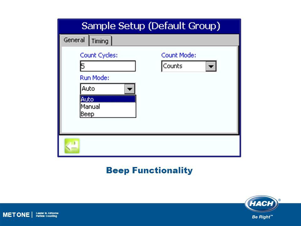 Beep Functionality