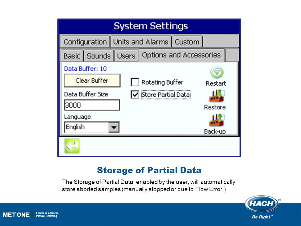 Storage of Partial Data