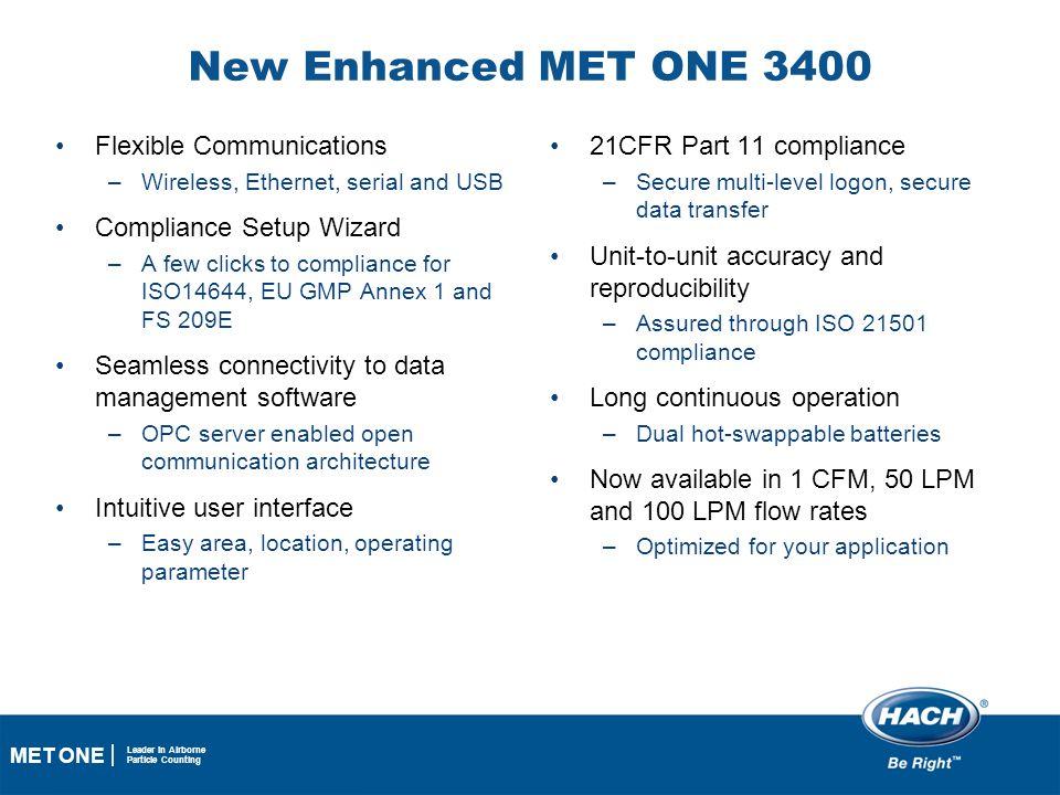 New Enhanced MET ONE 3400 Flexible Communications