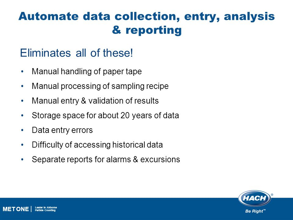 Automate data collection, entry, analysis & reporting
