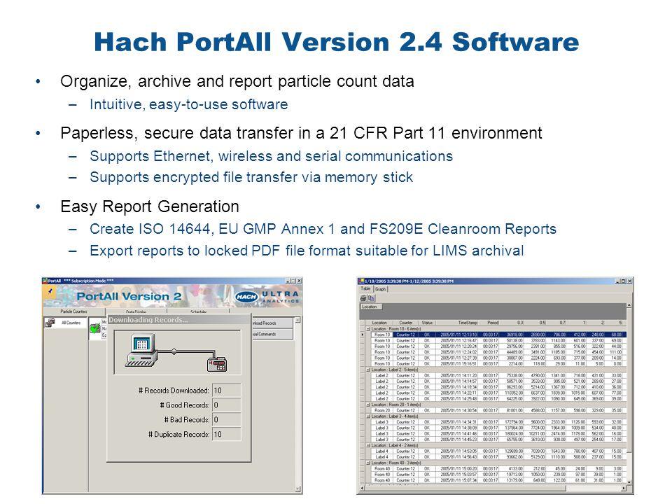 Hach PortAll Version 2.4 Software