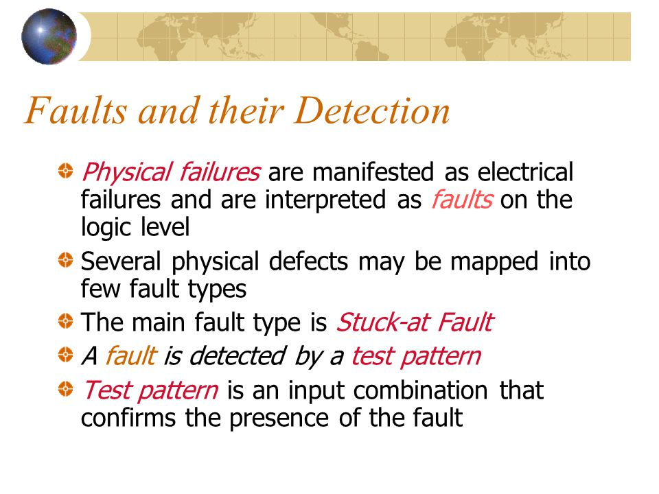 Faults and their Detection