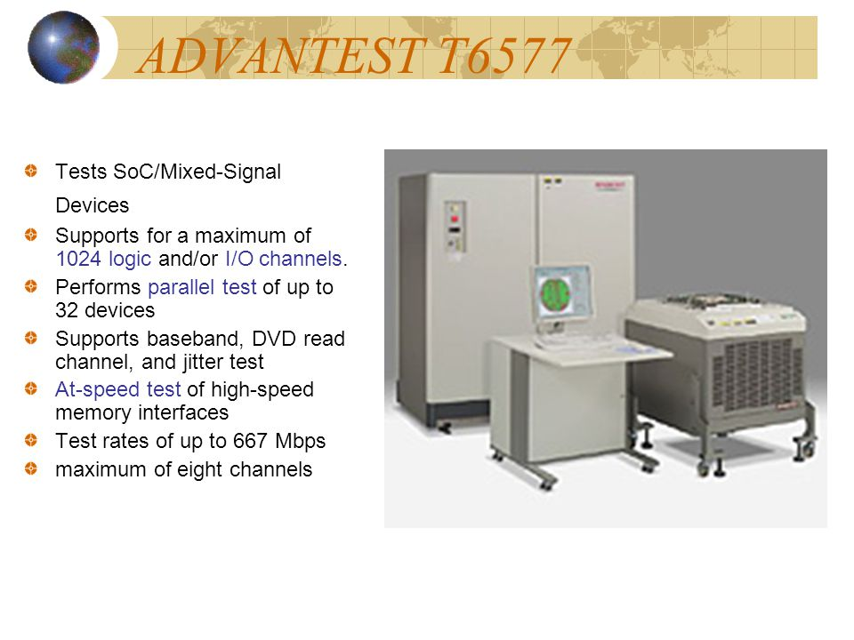 ADVANTEST T6577 Tests SoC/Mixed-Signal Devices