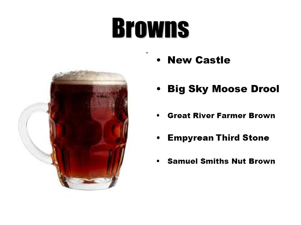 Browns New Castle Big Sky Moose Drool Empyrean Third Stone