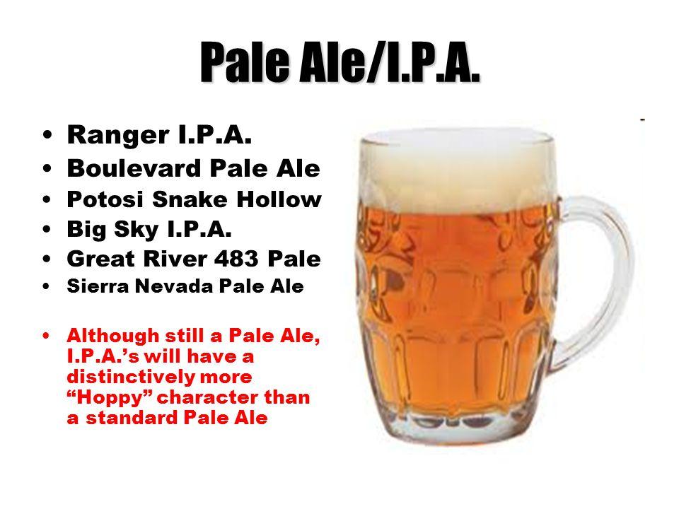 Pale Ale/I.P.A. Ranger I.P.A. Boulevard Pale Ale Potosi Snake Hollow