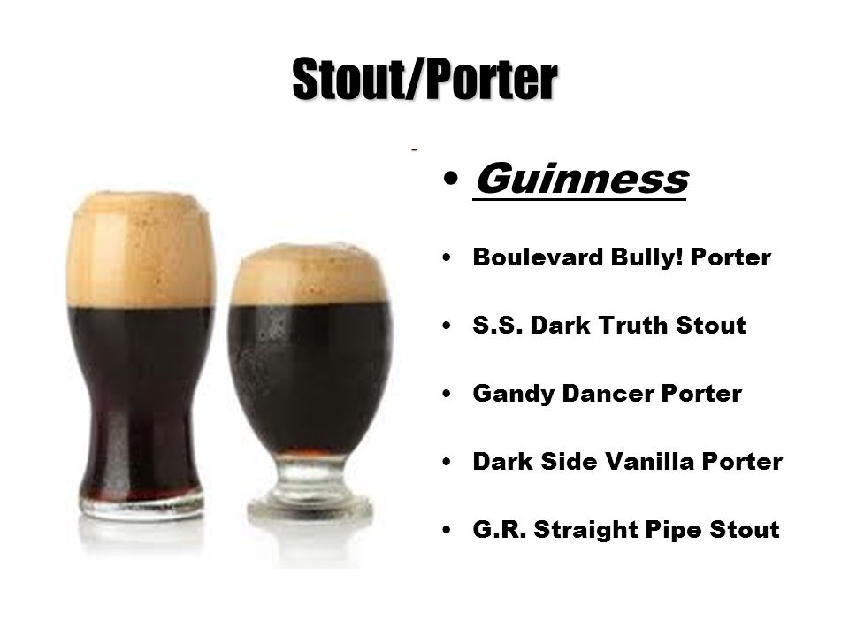 Stout/Porter Guinness Boulevard Bully! Porter S.S. Dark Truth Stout