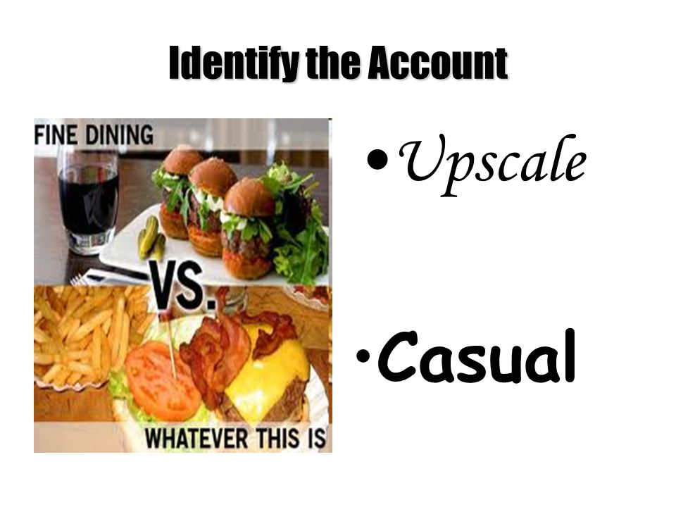 Upscale Casual Identify the Account