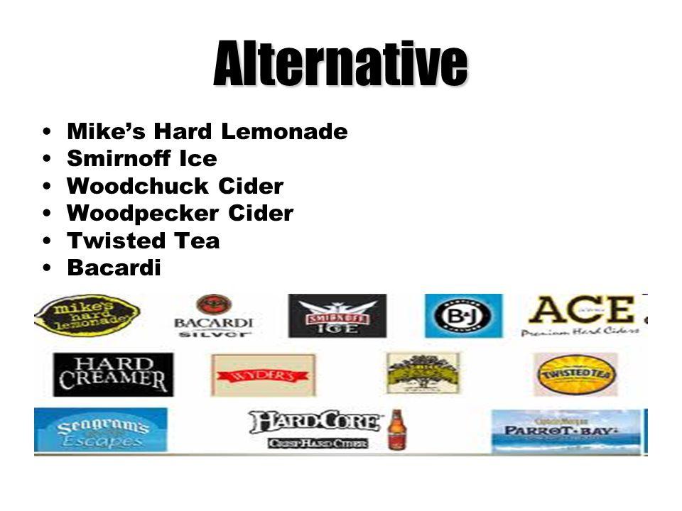 Alternative Mike's Hard Lemonade Smirnoff Ice Woodchuck Cider
