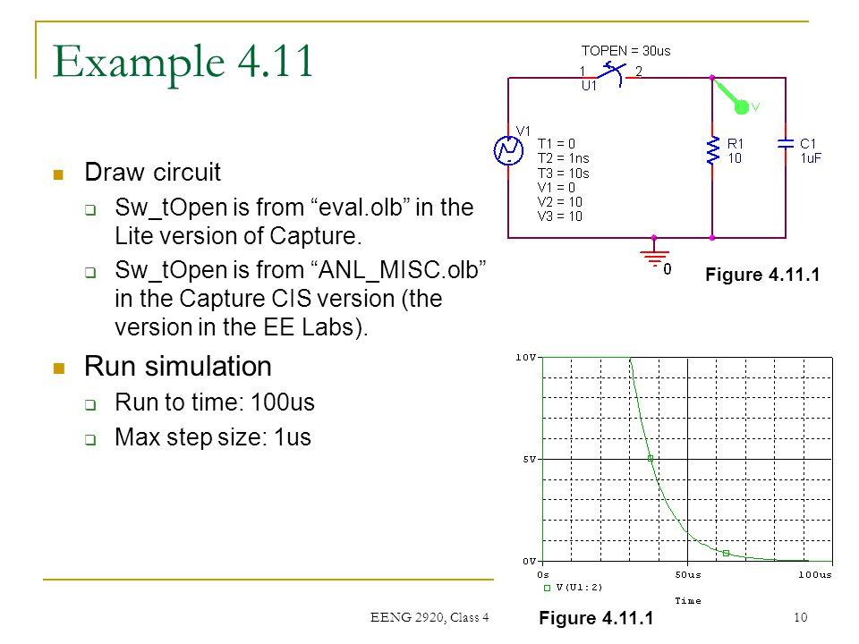 Example 4.11 Run simulation Draw circuit