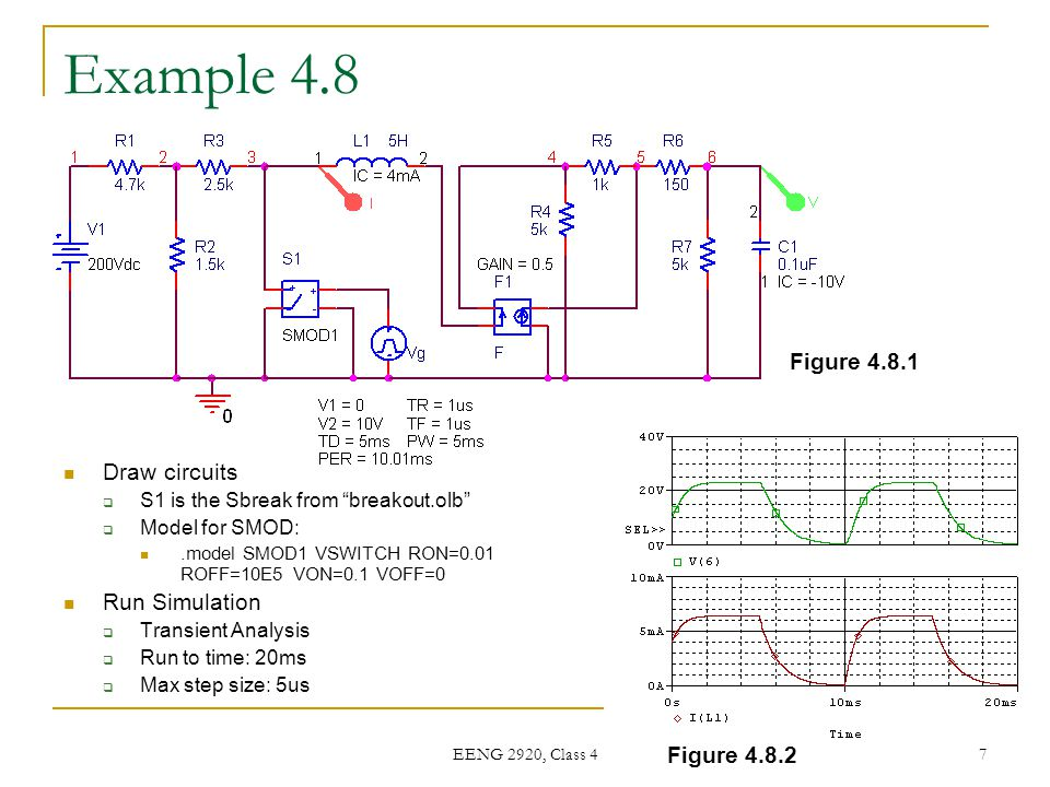 Example 4.8 Figure 4.8.1 Draw circuits Run Simulation Figure 4.8.2