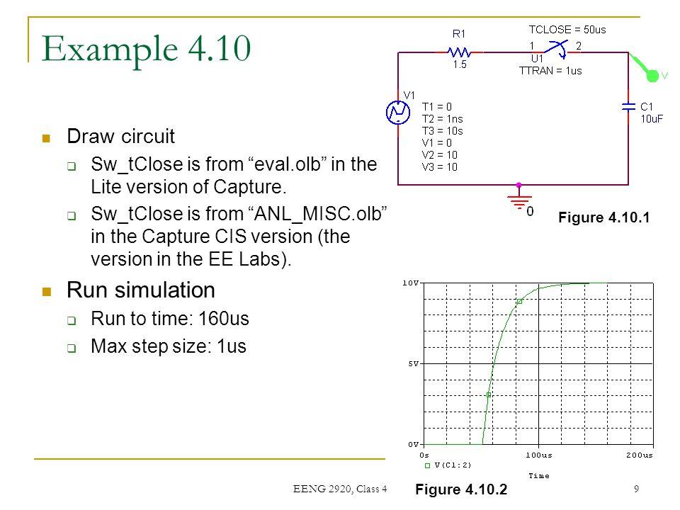 Example 4.10 Run simulation Draw circuit
