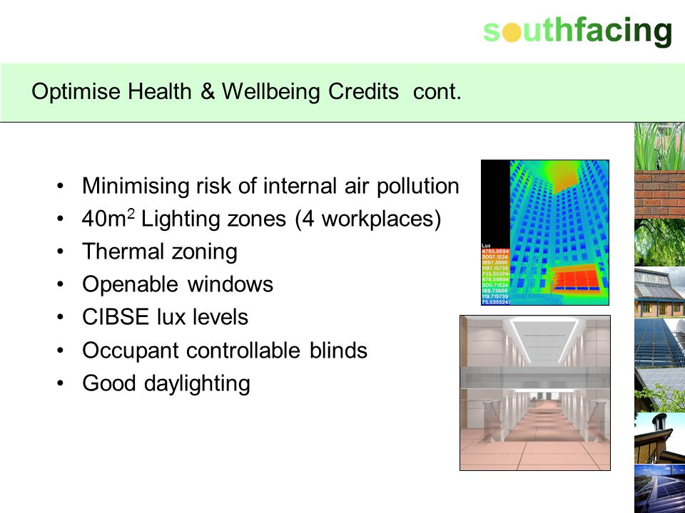 Optimise Health & Wellbeing Credits cont.
