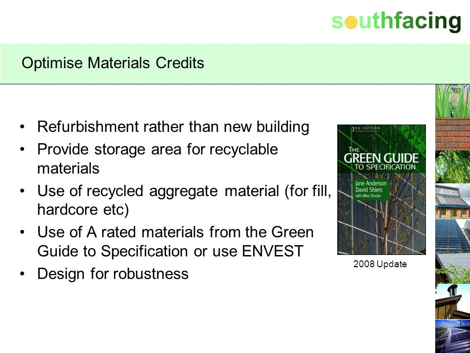 Optimise Materials Credits
