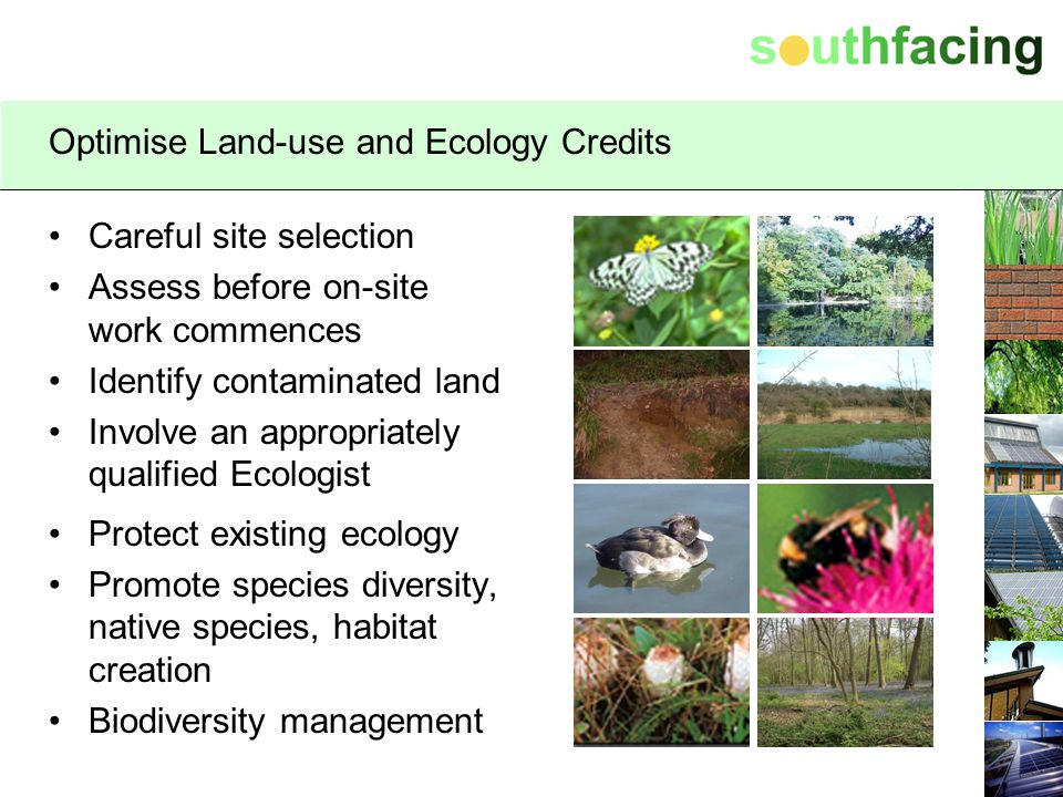 Optimise Land-use and Ecology Credits