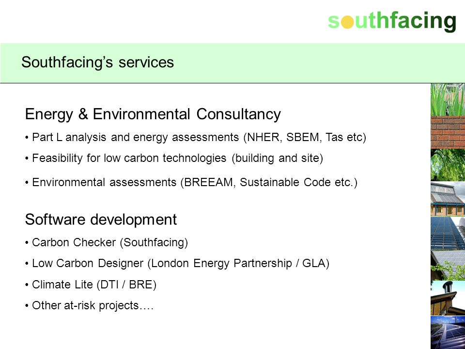 Southfacing's services